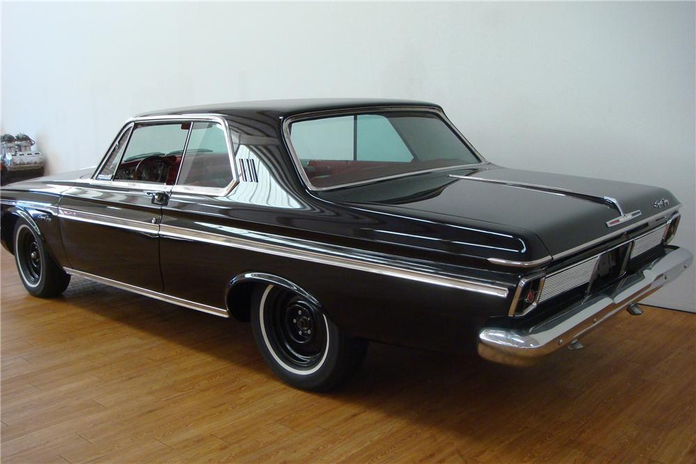 1963 PLYMOUTH MAX WEDGE 2 DOOR HARDTOP - Rear 3/4 - 97406