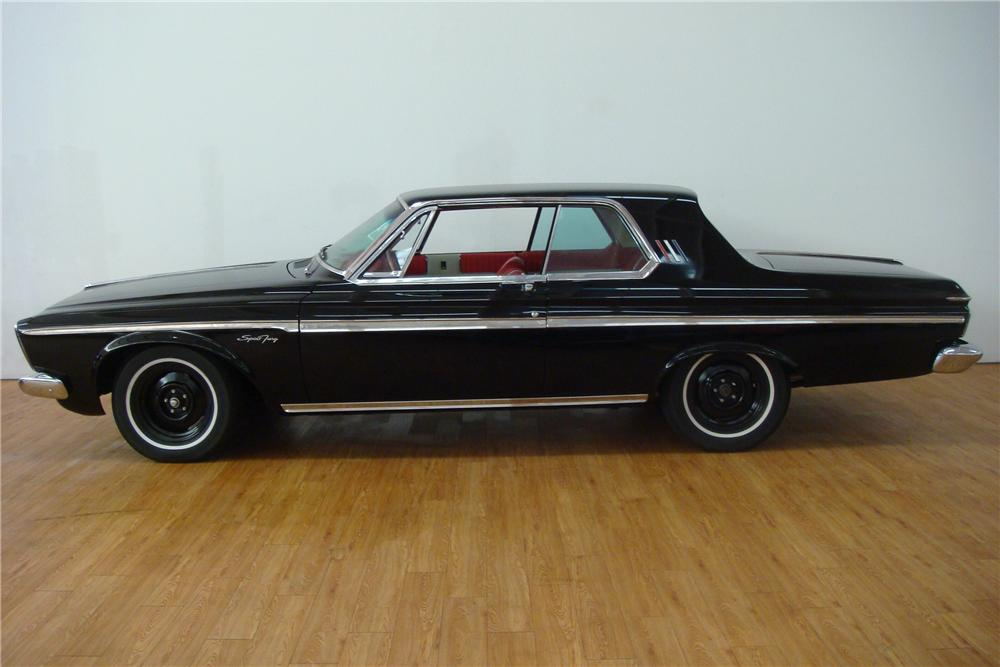 1963 PLYMOUTH MAX WEDGE 2 DOOR HARDTOP - Side Profile - 97406
