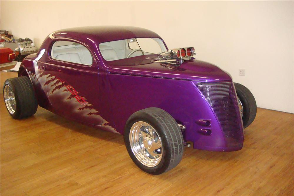 1937 FORD 3 WINDOW CUSTOM COUPE - Front 3/4 - 97411
