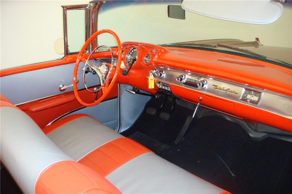 1957 CHEVROLET BEL AIR FI CONVERTIBLE - Interior - 97420