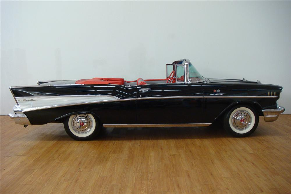 1957 CHEVROLET BEL AIR FI CONVERTIBLE - Side Profile - 97420