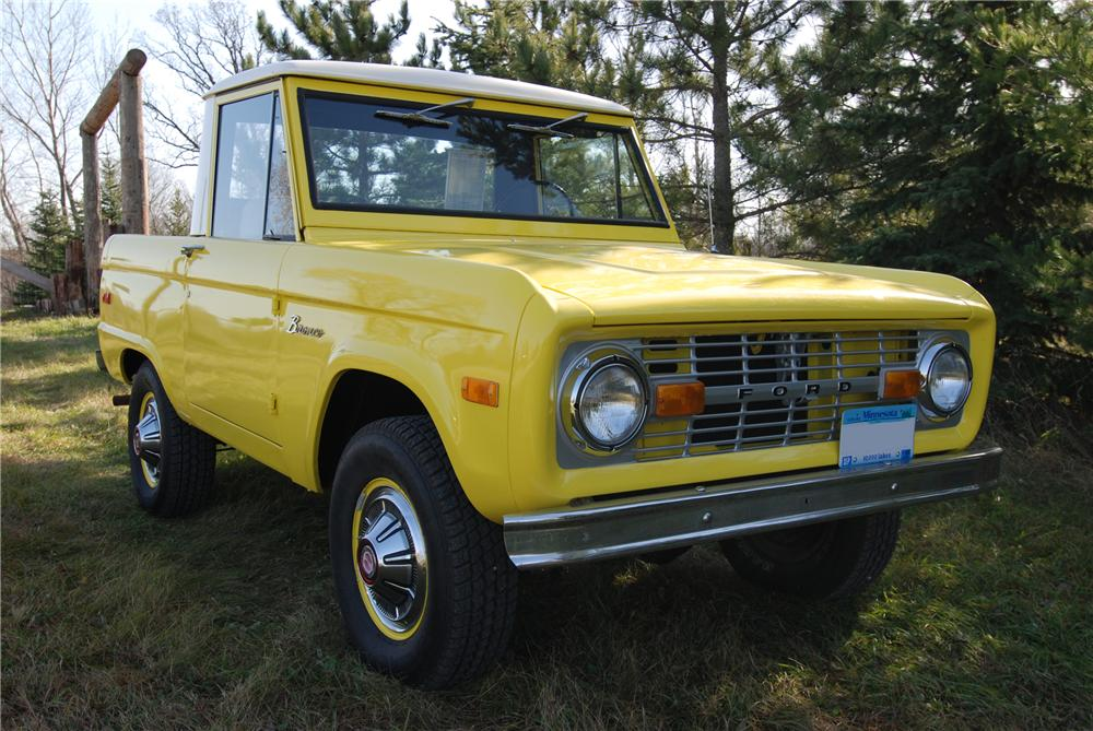 1971 FORD BRONCO PICKUP - Front 3/4 - 97436