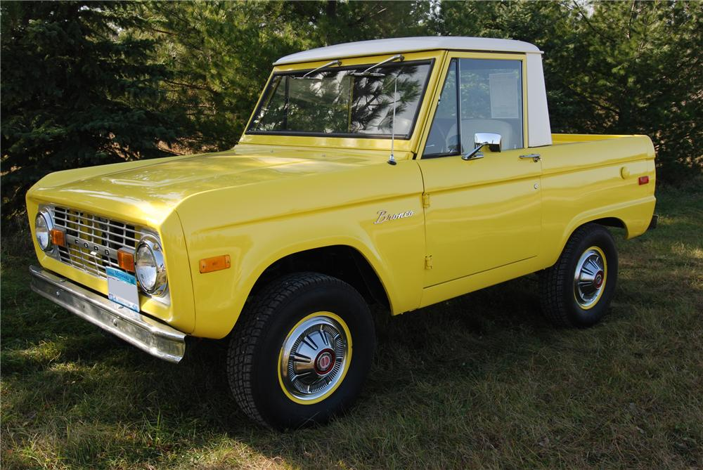 1971 FORD BRONCO PICKUP - Side Profile - 97436
