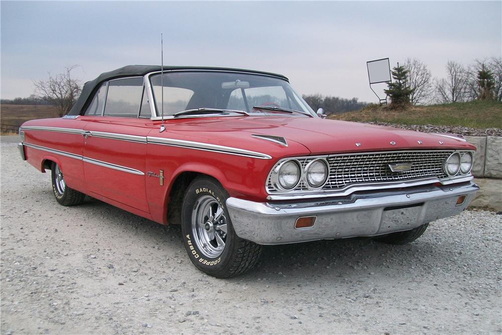 1963 FORD GALAXIE 500 CONVERTIBLE - Front 3/4 - 97443