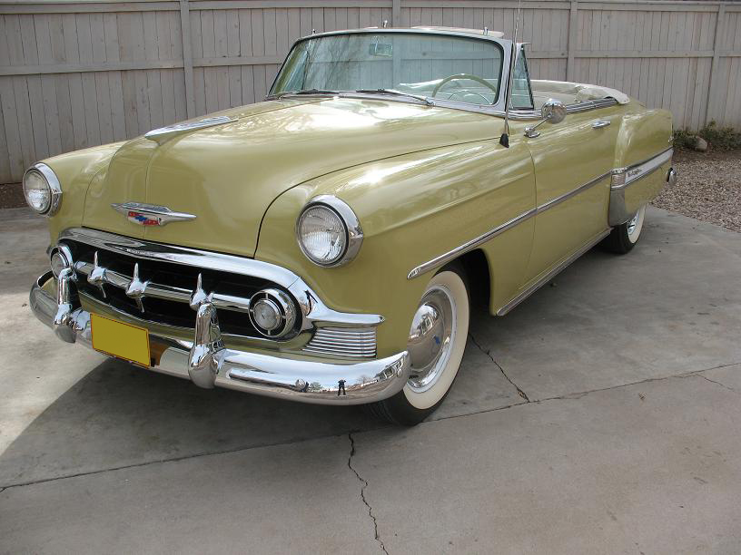 1953 CHEVROLET BEL AIR CONVERTIBLE - Front 3/4 - 97445