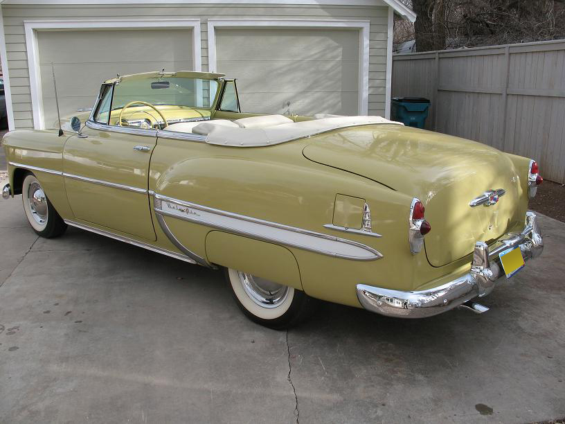 1953 CHEVROLET BEL AIR CONVERTIBLE - Rear 3/4 - 97445