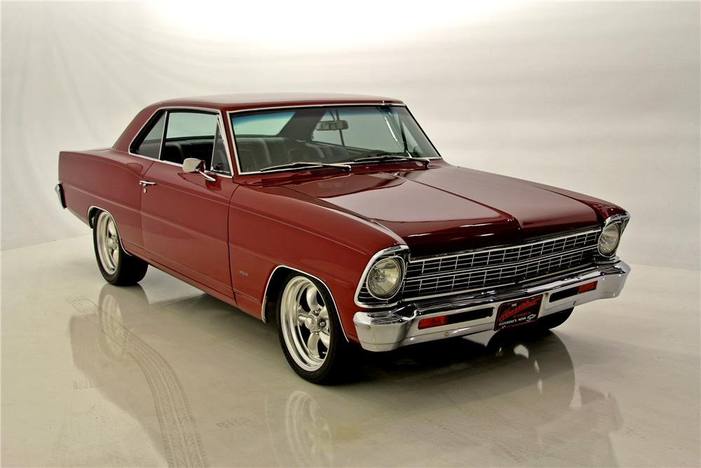 1967 CHEVROLET NOVA CUSTOM 2 DOOR HARDTOP - Front 3/4 - 97508