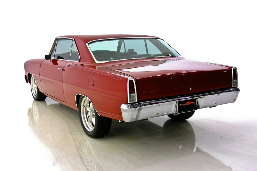 1967 CHEVROLET NOVA CUSTOM 2 DOOR HARDTOP - Rear 3/4 - 97508