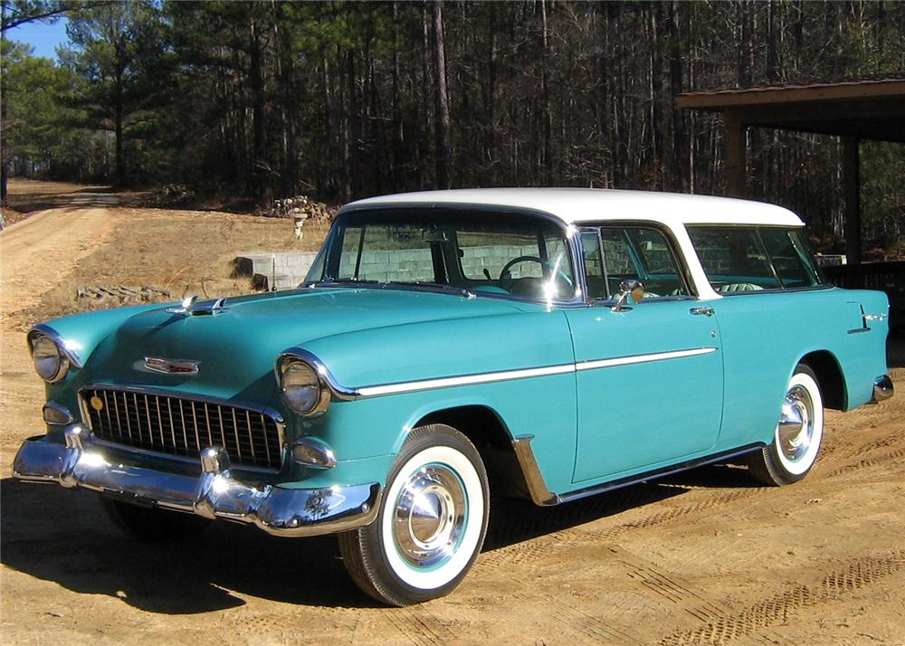 1955 CHEVROLET NOMAD STATION WAGON - Front 3/4 - 97521