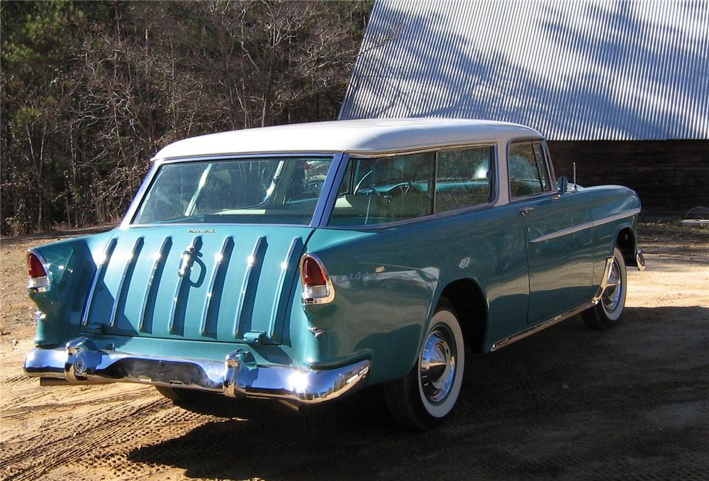 1955 CHEVROLET NOMAD STATION WAGON - Rear 3/4 - 97521