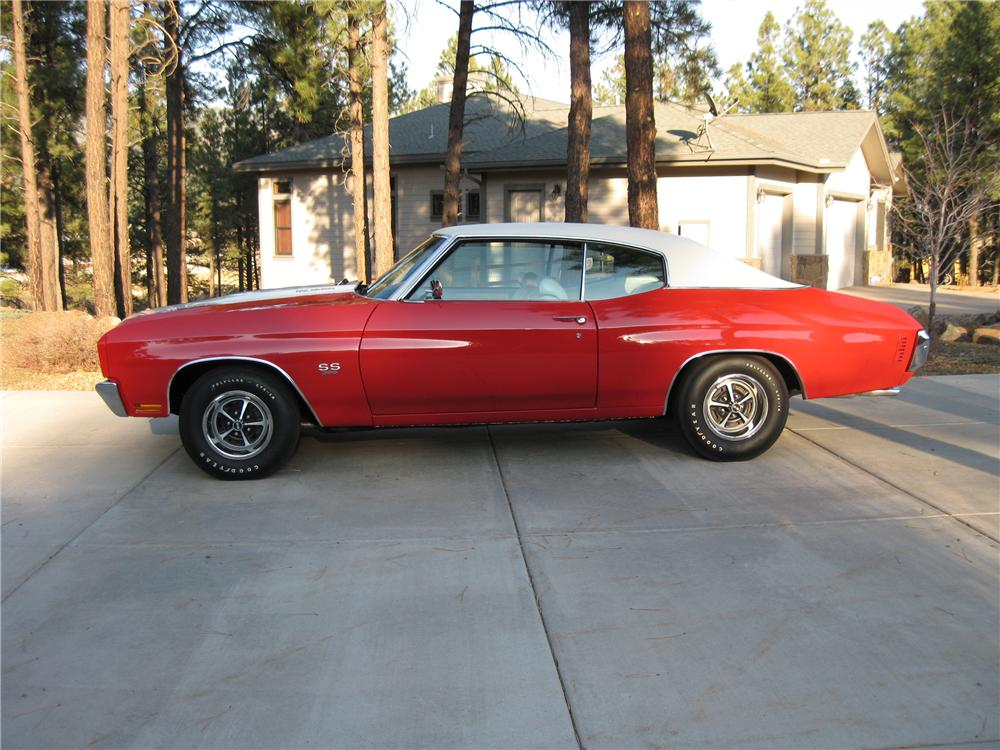 1970 CHEVROLET CHEVELLE SS 396 2 DOOR HARDTOP - Side Profile - 97523