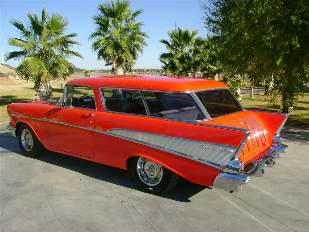 1957 CHEVROLET NOMAD CUSTOM STATION WAGON - Rear 3/4 - 97534