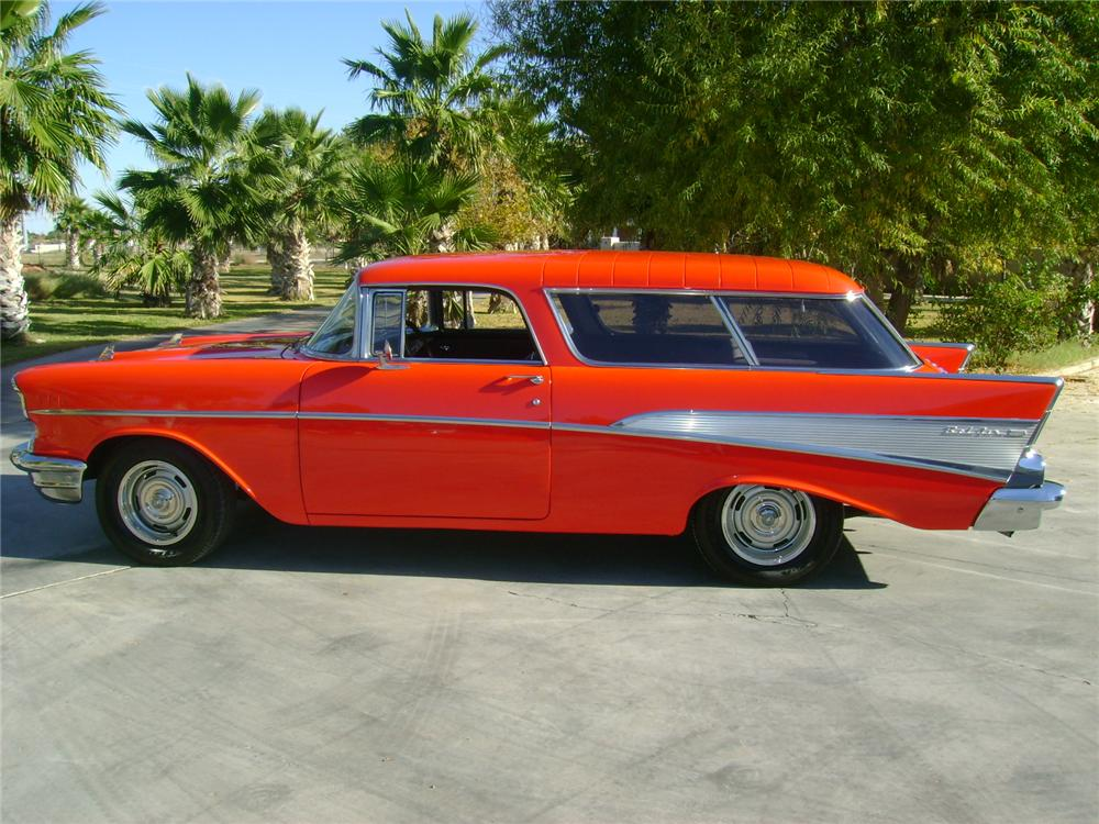 1957 CHEVROLET NOMAD CUSTOM STATION WAGON - Side Profile - 97534