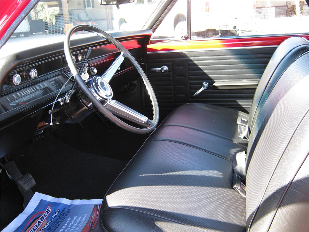 1967 CHEVROLET EL CAMINO CUSTOM PICKUP - Interior - 97557