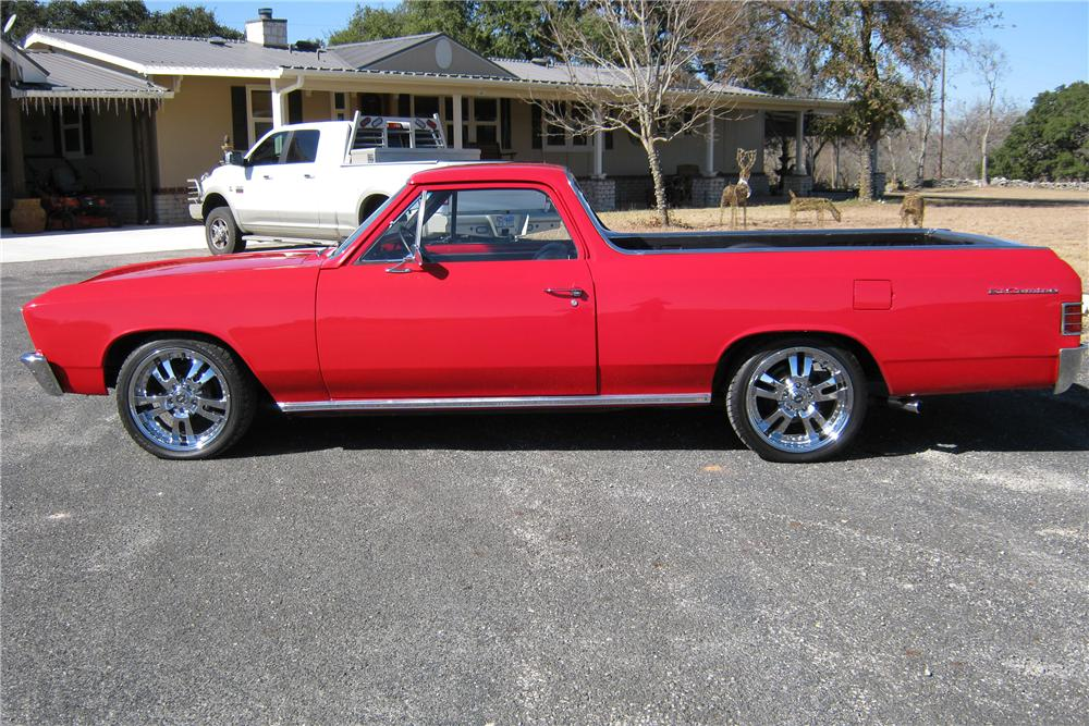 1967 CHEVROLET EL CAMINO CUSTOM PICKUP - Side Profile - 97557