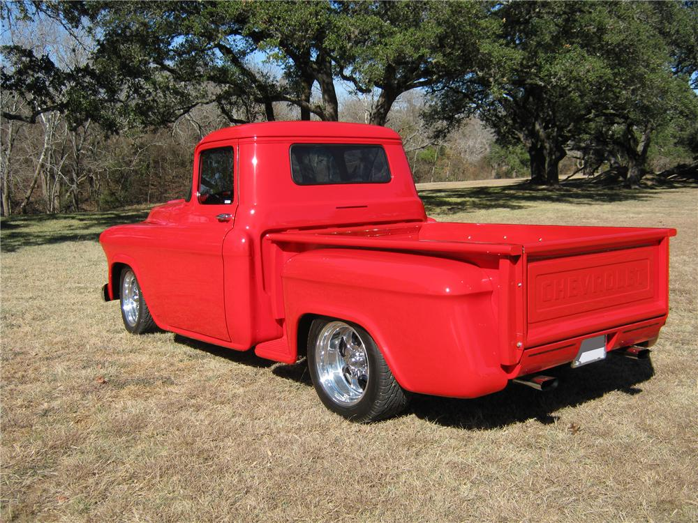 1957 CHEVROLET CUSTOM PICKUP - Rear 3/4 - 97562