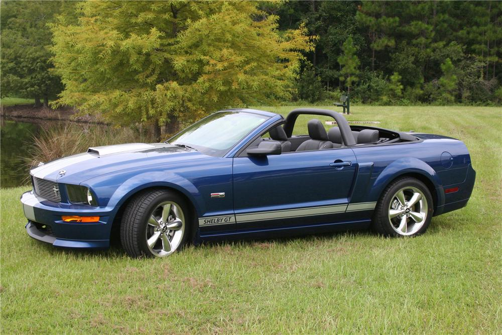 2008 FORD SHELBY GT MUSTANG CONVERTIBLE - Front 3/4 - 97564