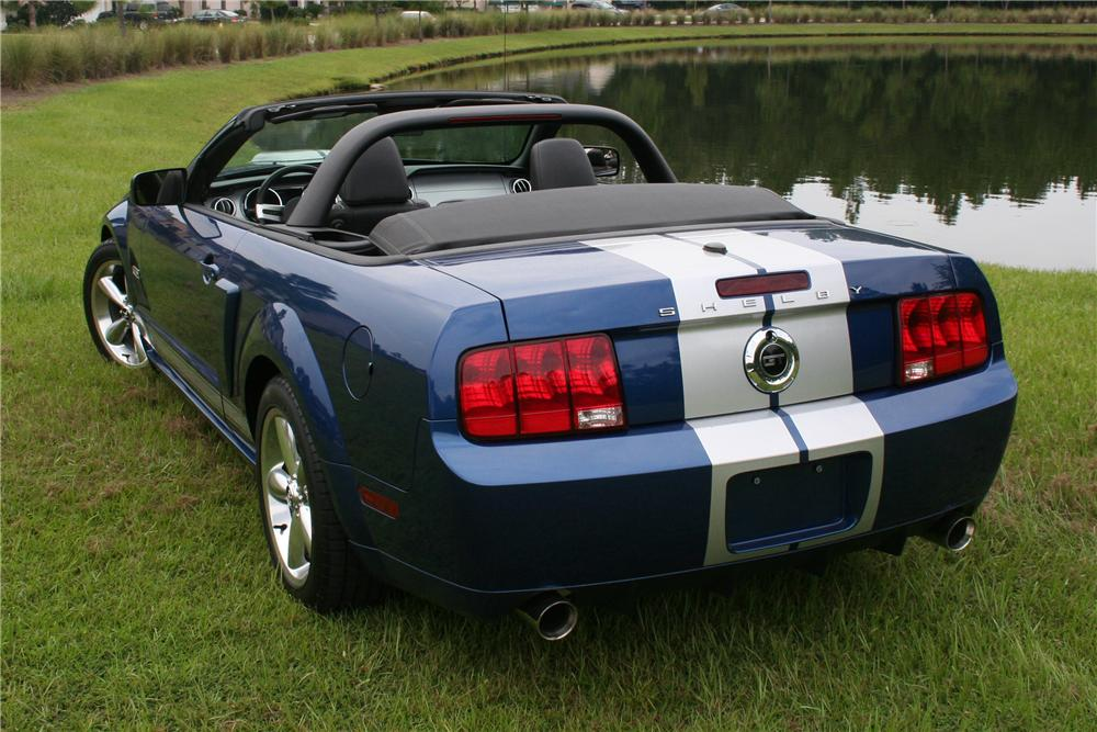 2008 FORD SHELBY GT MUSTANG CONVERTIBLE - Rear 3/4 - 97564