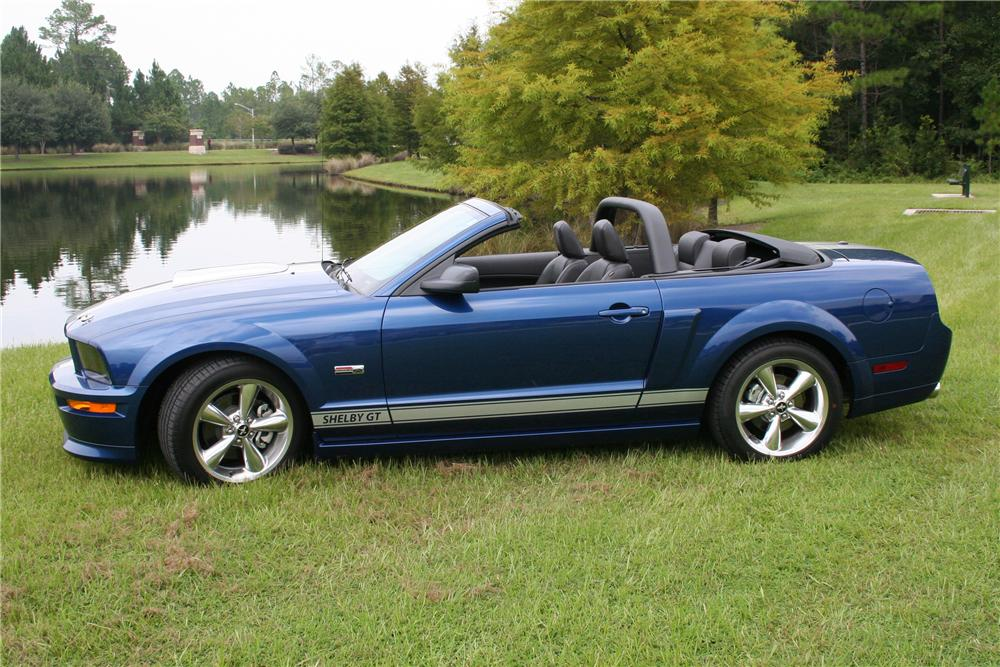 2008 FORD SHELBY GT MUSTANG CONVERTIBLE - Side Profile - 97564