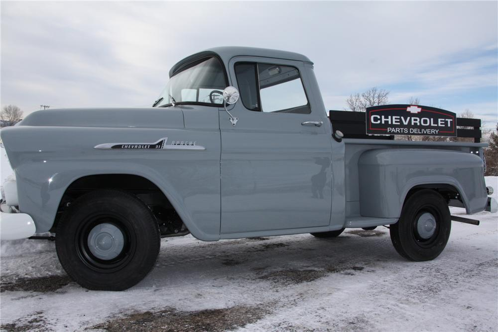 1958 CHEVROLET APACHE 3100 PICKUP - Side Profile - 97574