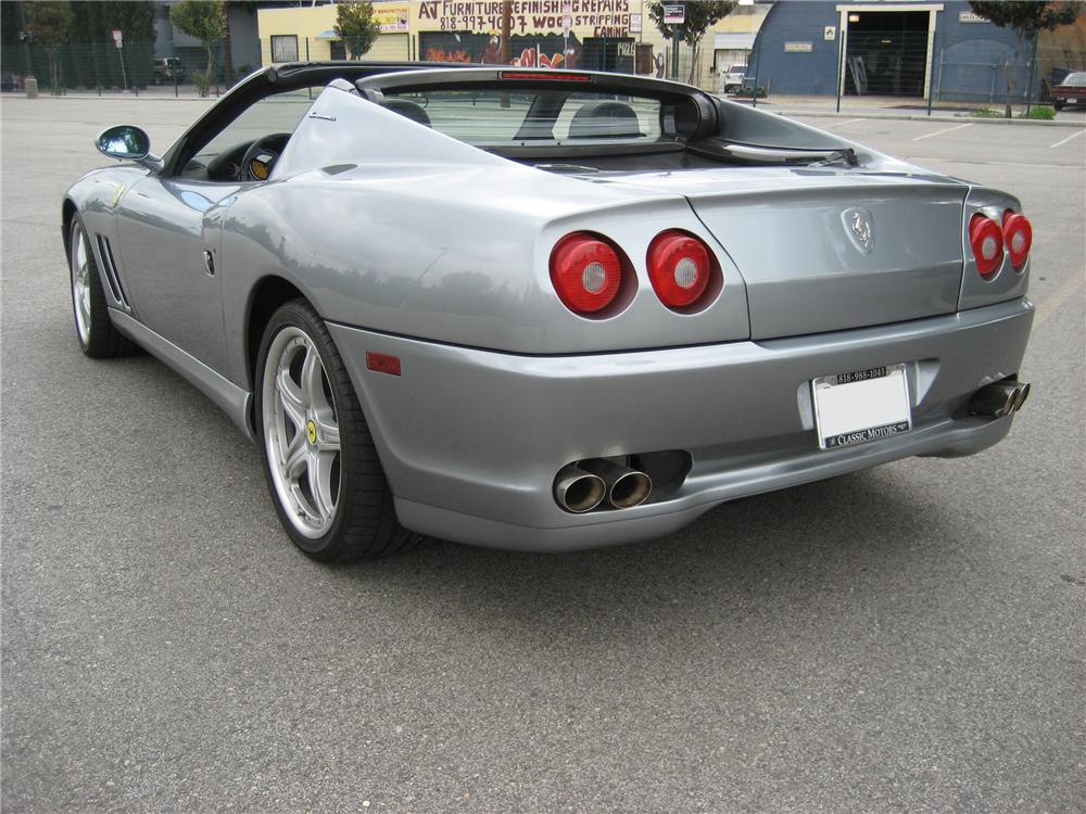 2005 FERRARI 575 SUPERAMERICA RETRACTABLE HARDTOP COUPE - Rear 3/4 - 97577
