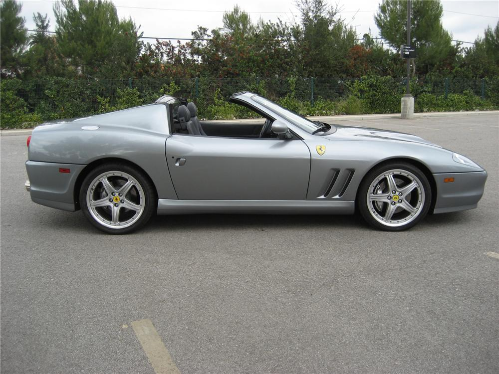 2005 FERRARI 575 SUPERAMERICA RETRACTABLE HARDTOP COUPE - Side Profile - 97577