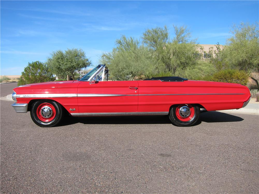 1964 FORD GALAXIE 500 2 DOOR CONVERTIBLE - Side Profile - 97688