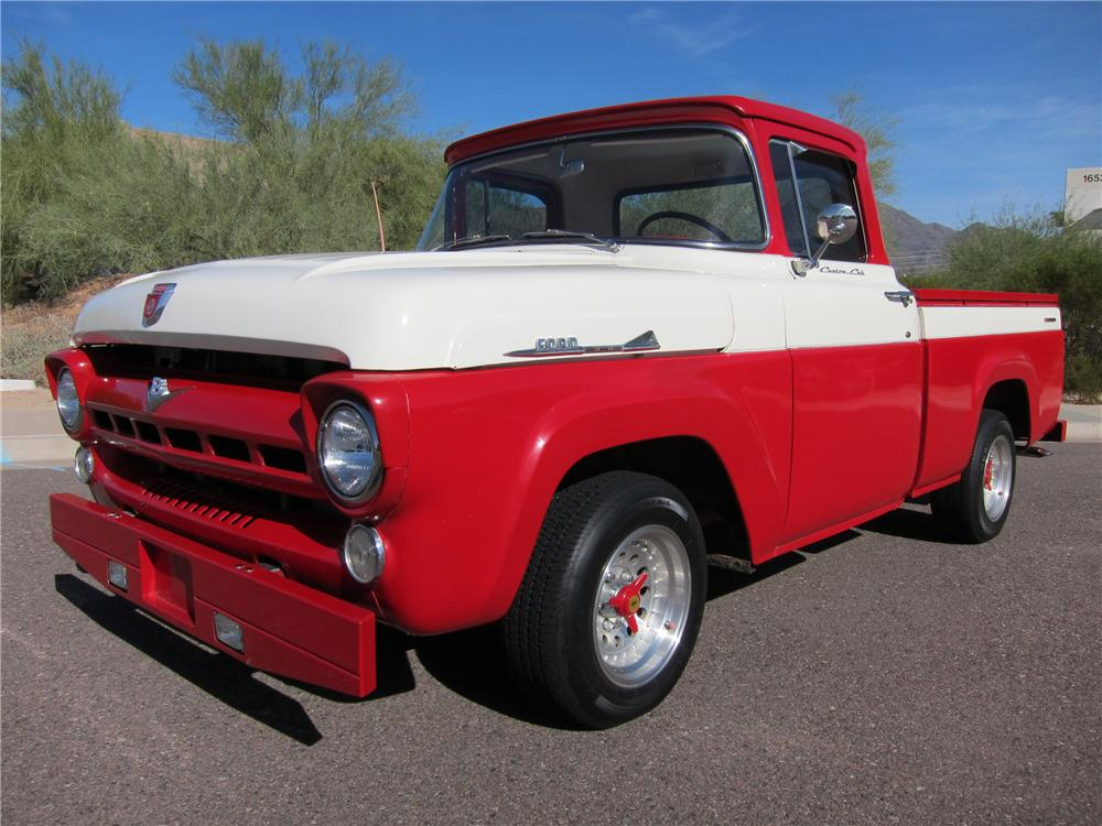 1957 FORD F-100 CUSTOM PICKUP - Front 3/4 - 97690