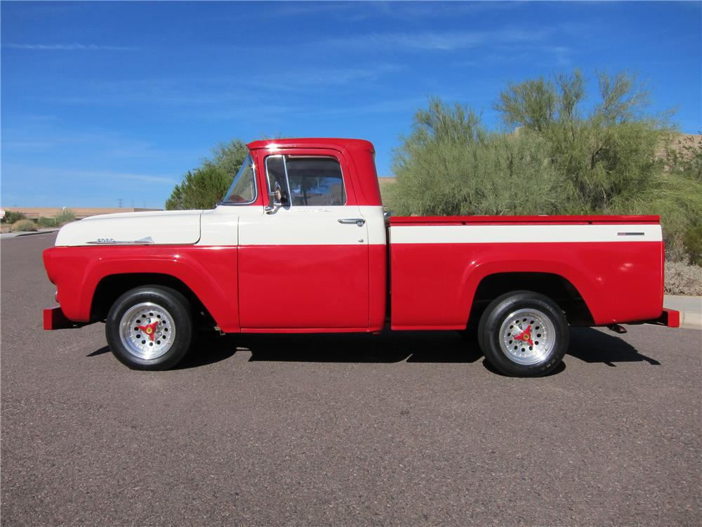 1957 FORD F-100 CUSTOM PICKUP - Side Profile - 97690