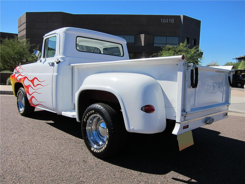 1957 FORD F-100 CUSTOM PICKUP - Rear 3/4 - 97691