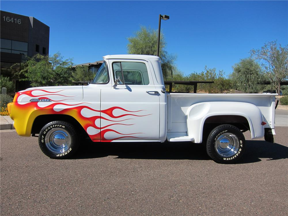 1957 FORD F-100 CUSTOM PICKUP - Side Profile - 97691