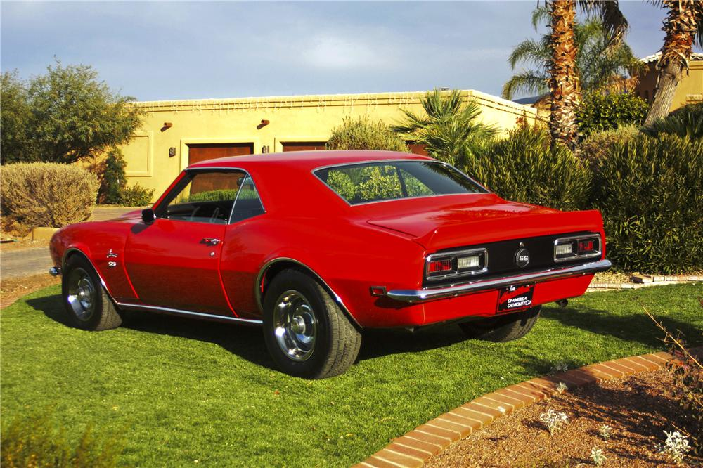 1968 CHEVROLET CAMARO 2 DOOR HARDTOP - Rear 3/4 - 97693