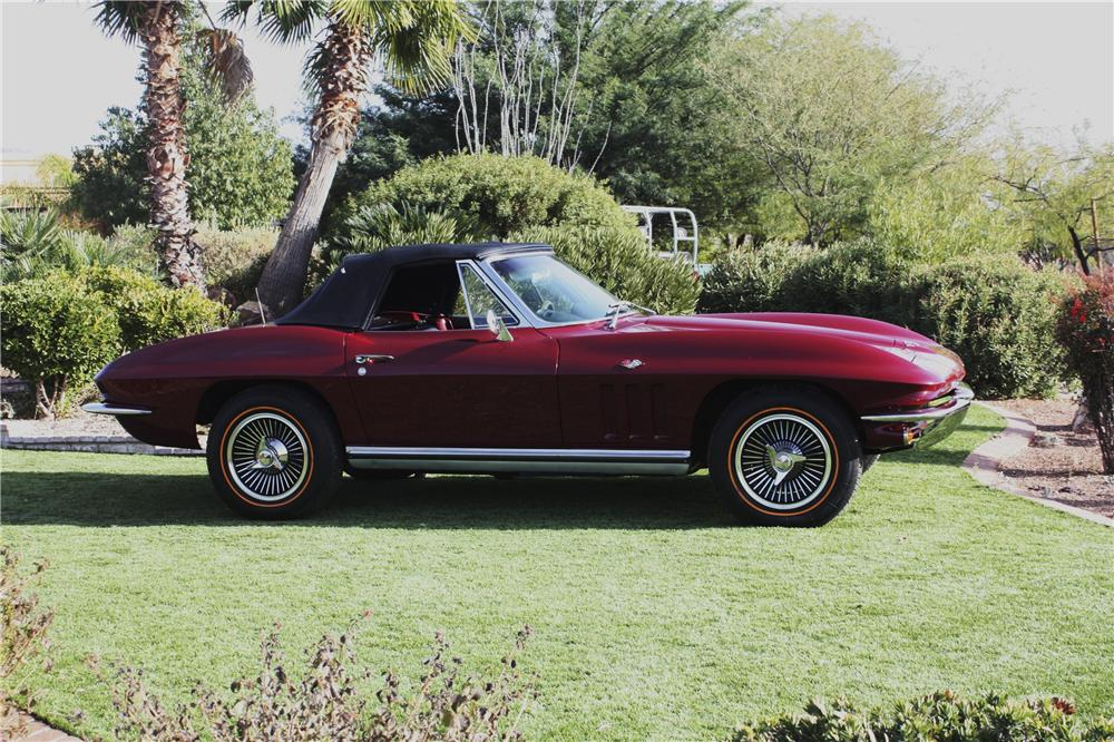 1965 CHEVROLET CORVETTE CONVERTIBLE - Side Profile - 97694