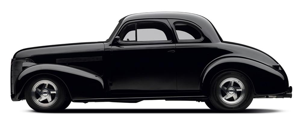 1939 CHEVROLET CUSTOM COUPE - Side Profile - 97695