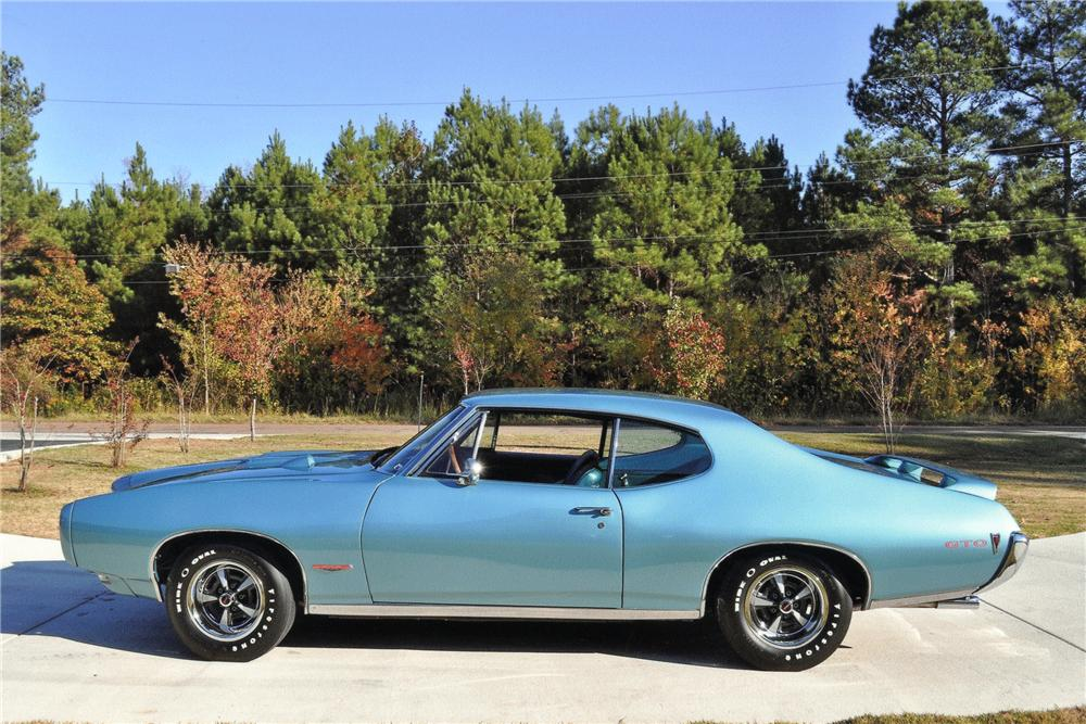 1968 PONTIAC GTO 2 DOOR HARDTOP - Side Profile - 97721