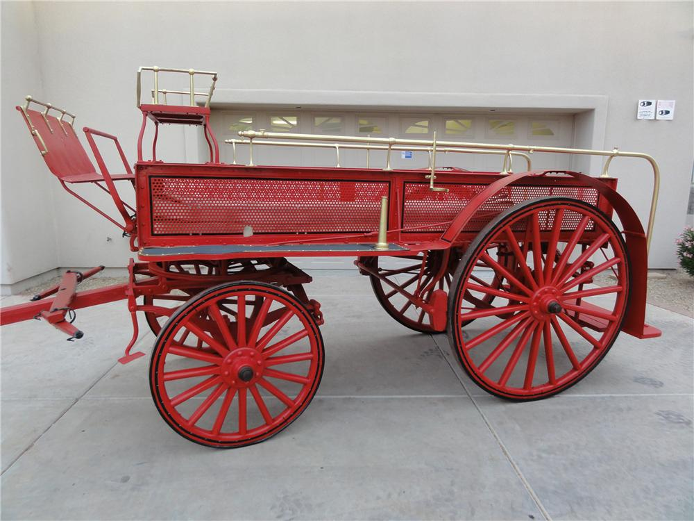0 BUGGY FIRE DEPARTMENT HOSE WAGON - Front 3/4 - 97733