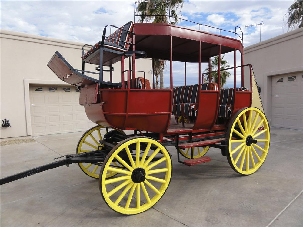 0 STAGE COACH MUD WAGON - Front 3/4 - 97743
