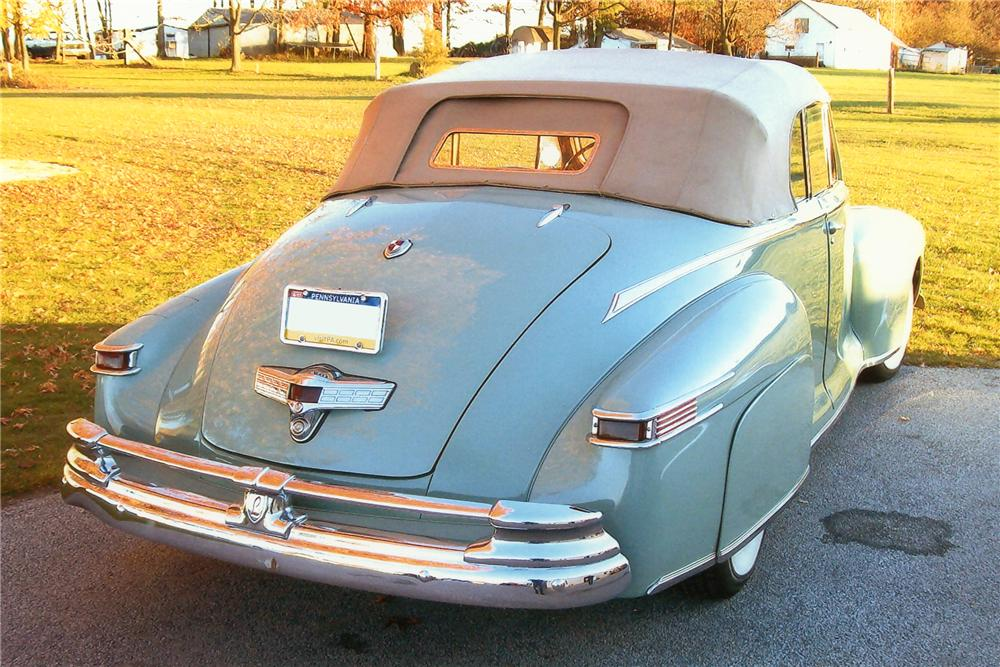 1948 LINCOLN CONTINENTAL CONVERTIBLE - Rear 3/4 - 97885