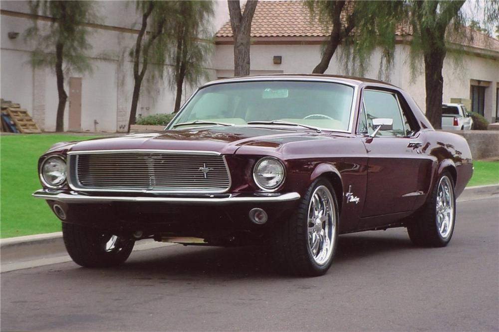 1968 FORD MUSTANG CUSTOM COUPE - Front 3/4 - 97897