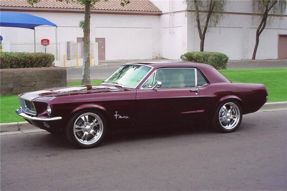 1968 FORD MUSTANG CUSTOM COUPE - Side Profile - 97897