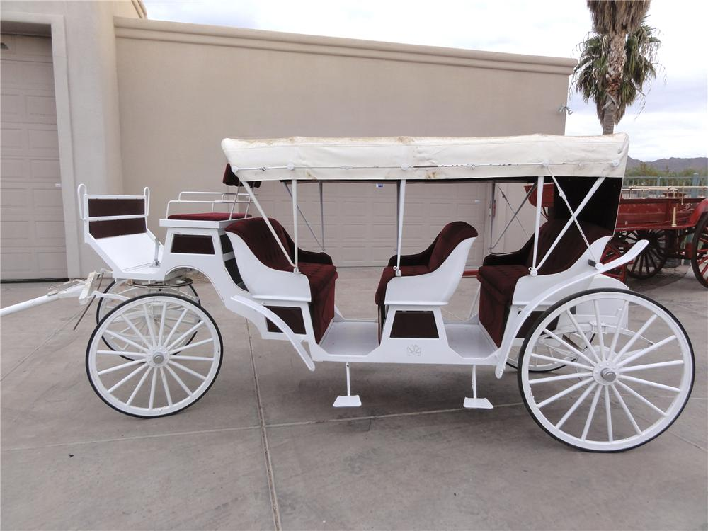 0 BUGGY 3-SEAT SURREY LIMO CARRIAGE - Side Profile - 97903
