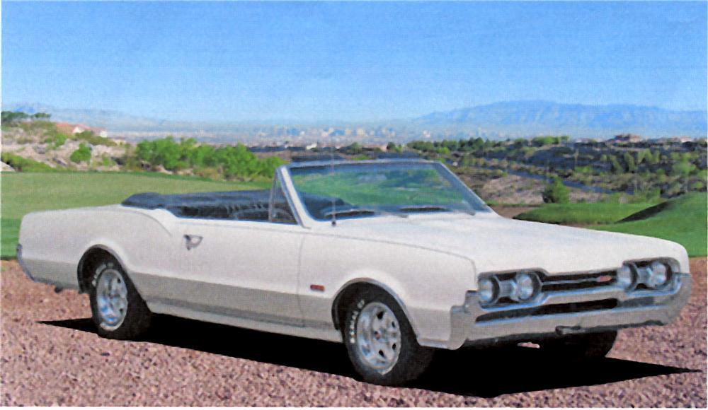 1967 OLDSMOBILE 442 CONVERTIBLE - Front 3/4 - 98006