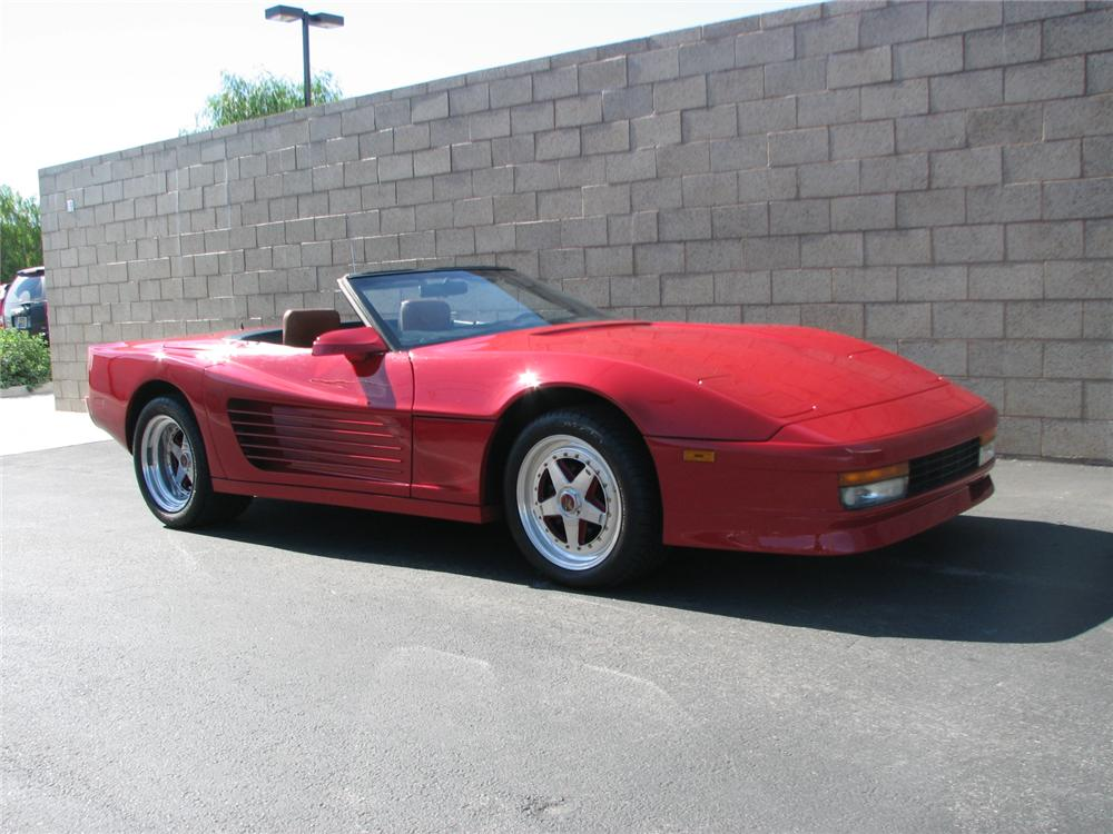 1989 CHEVROLET CORVETTE BRILLANTE CUSTOM CONVERTIBLE - Front 3/4 - 98014