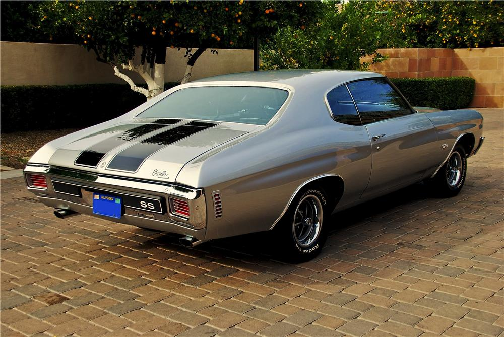 1970 CHEVROLET CHEVELLE LS6 SS COUPE - Rear 3/4 - 98019