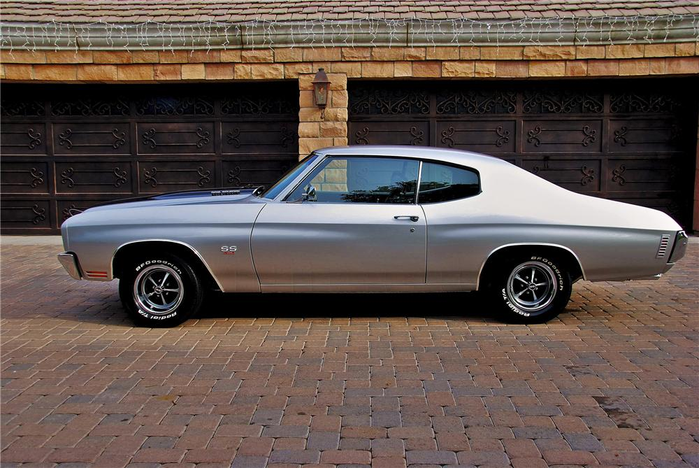 1970 CHEVROLET CHEVELLE LS6 SS COUPE - Side Profile - 98019