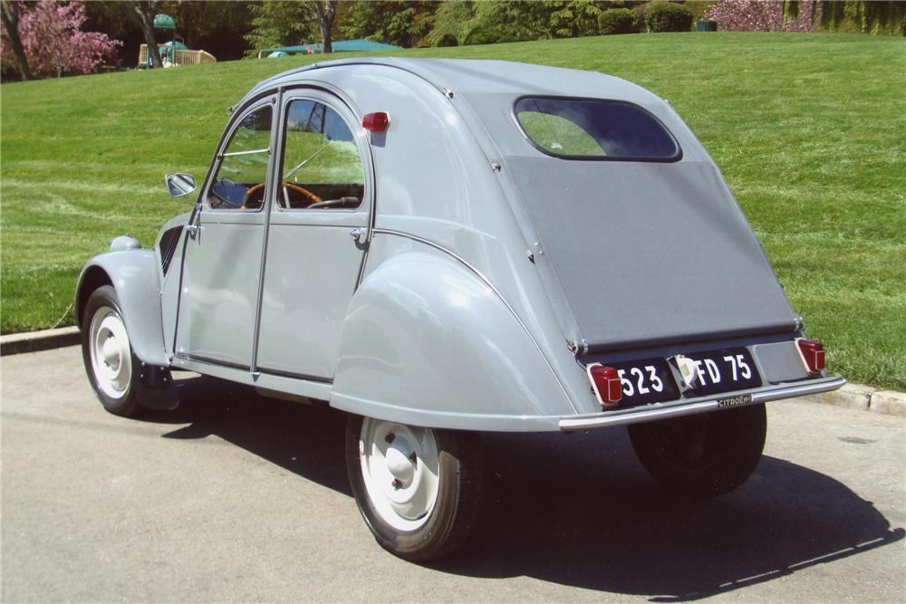 1956 CITROEN 2CV 4 DOOR - Rear 3/4 - 98051