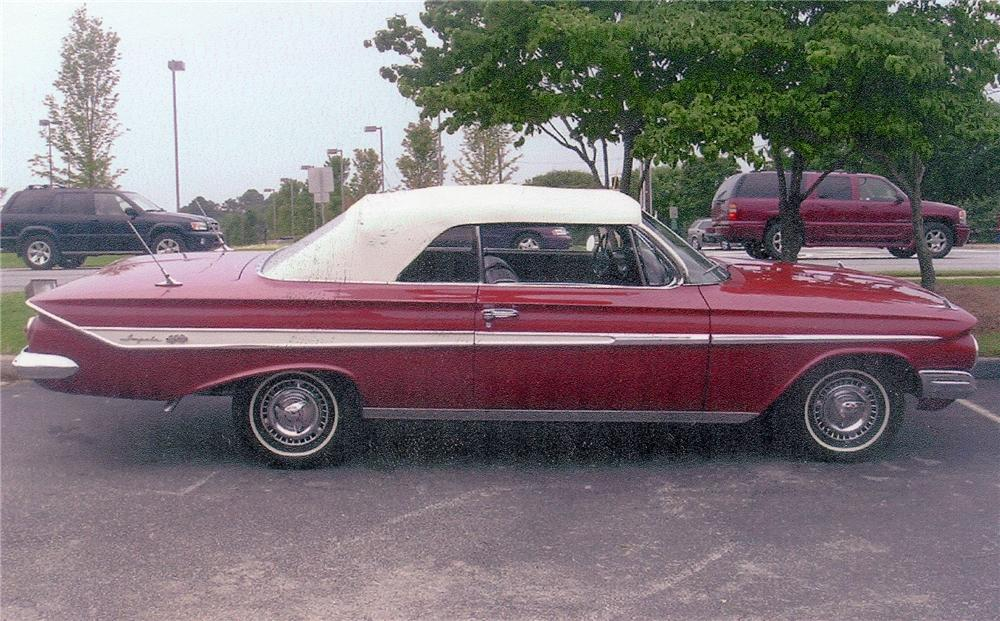 1961 CHEVROLET IMPALA SS CONVERTIBLE - Side Profile - 98071