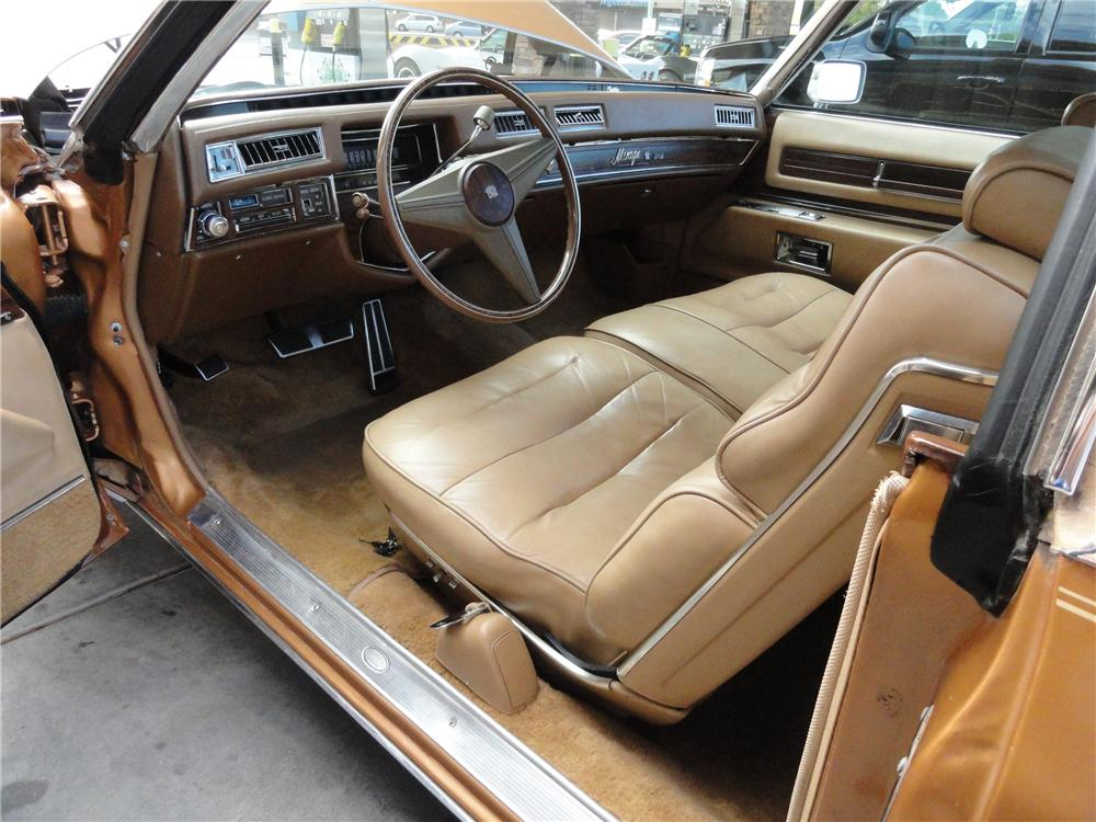 1976 CADILLAC MIRAGE PICKUP - Interior - 98073