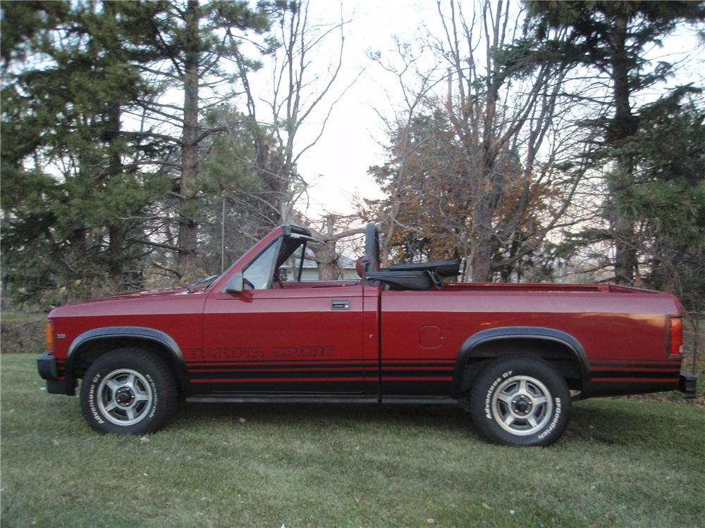 1989 DODGE DAKOTA CONVERTIBLE PICKUP - Side Profile - 98076