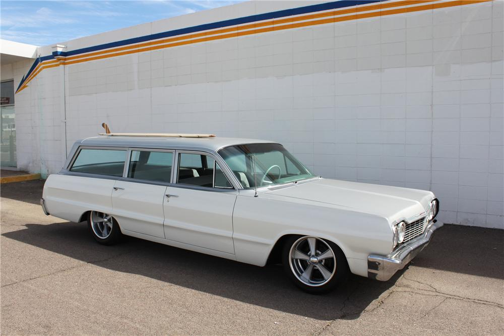 1964 CHEVROLET BISCAYNE CUSTOM WAGON - Side Profile - 98077